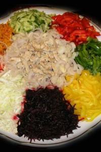 украшение салатов из овощей