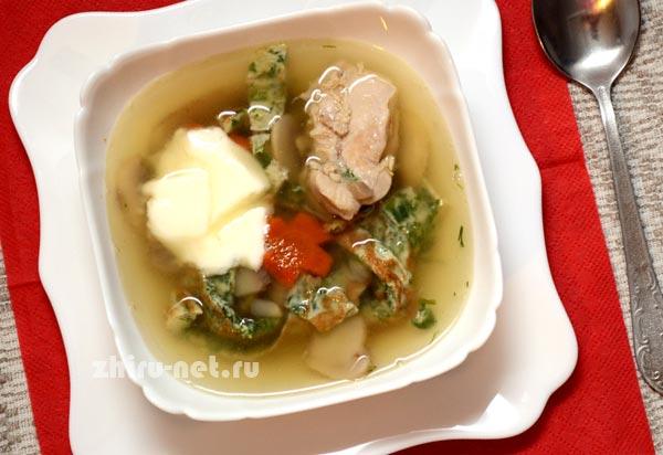 грибной-диетический-суп