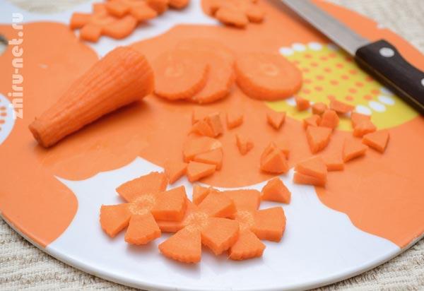 морковь-цветочками