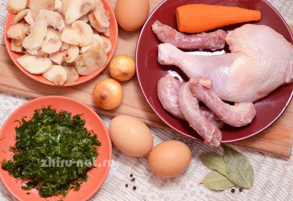 продукты-для-грибного-супа