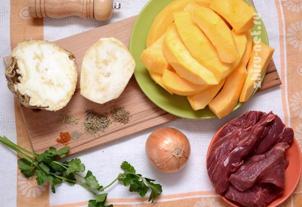 продукты-для-тушеной-тыквы