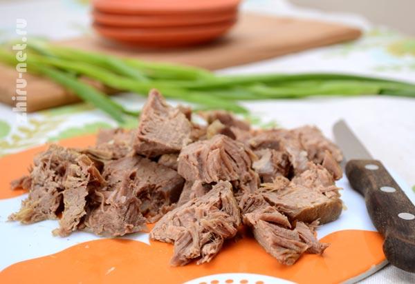 мясо-кусочками