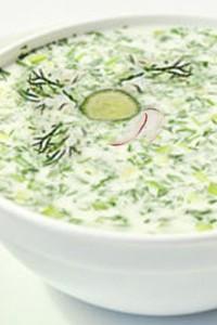 окрошка на кефире рецепт