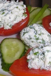 рецепт творог с зеленью и огурцами