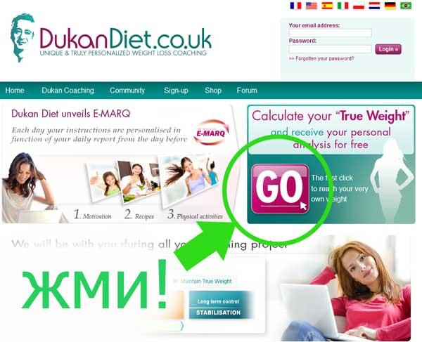 диета дюкана рассчитываем свой вес
