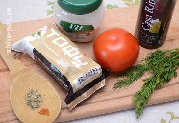 продукты-для-салата-с-тофу