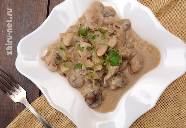 рецепт-курицы-с-грибами